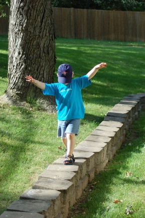 Child Stone Wall Balancing Walking Balance Kid